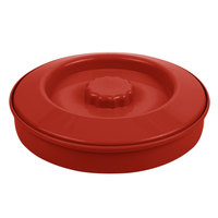 Carlisle 047505 7 1/4 inch Polypropylene Red Tortilla Server with Interlock Lid - 24/Case