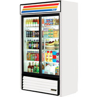 True GDM-41SL-LD White Slim Line Refrigerated Sliding Glass Door Merchandiser