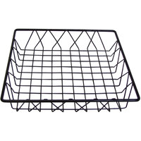 Cal-Mil 1293TRAY Black Square Wire Basket - 12 inch x 12 inch x 3 inch