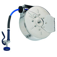 T&S B-7142-C01M 50' Enclosed Stainless Steel Hose Reel with B-0107 Spray Valve
