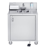 Crown Verity CVPHS-2 Double Bowl Portable Hand Sink Cart