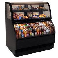 Structural Concepts Harmony HMBC4-QS Black 51 inch Refrigerated Dual Service Merchandiser Case - 16.14 Cu. Ft., 220V