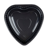 Genpak 55H09 Bake 'N Show Dual Ovenable Heart Shape Black Cake Pan - 200/Case