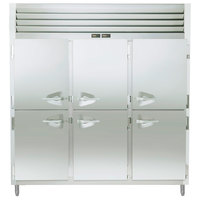 Traulsen RDT332WUT-HHS Stainless Steel 69.3 Cu. Ft. Three Section Half Door Reach In Refrigerator / Freezer - Specification Line