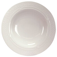 Homer Laughlin 8696900 Kensington 11 oz. Bright White Wide Rim China Soup Bowl - 24/Case