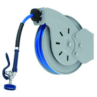 T&S B-7232-01M 35' Open Epoxy Coated Steel Hose Reel with B-0107 Spray Valve