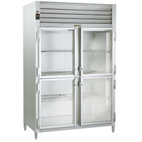 Traulsen AHT226WUT-HHG 40.8 Cu. Ft. Two Section Glass Half Door Shallow Depth Reach In Refrigerator - Specification Line