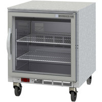Beverage-Air UCR27Y-25-LED 27 inch Undercounter Refrigerator with Glass Door and LED Lighting