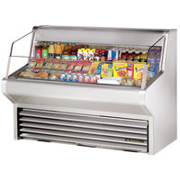 True THAC-60-S 60 inch Stainless Steel Refrigerated Horizontal Air Curtain Merchandiser - 14.8 Cu. Ft.