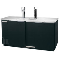 Beverage-Air DD68HC-1-B 1 Single and 1 Double Tap Kegerator Beer Dispenser - Black, (3) 1/2 Keg Capacity