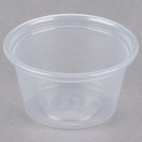 Dart Conex Complements 075PC 0.75 oz. Translucent Plastic Souffle / Portion Cup - 2500/Case