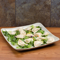 GET ML-147-IV New Yorker 13 3/4 inch Square Catering Platter - Ivory