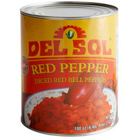 Del Sol Diced Red Bell Peppers #10 Can