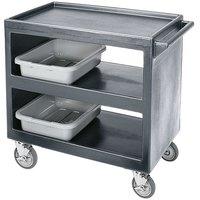 Cambro BC2354S Granite Gray Three Shelf Service Cart - 37 1/4 inch x 21 1/2 inch x 34 5/4 inch