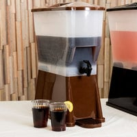 Tablecraft 354DP Slimline 3 Gallon Brown Beverage / Juice Dispenser