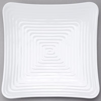 GET ML-64-W Milano 11 3/4 inch White Melamine Square Plate - 12/Pack