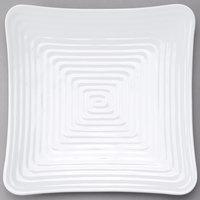 GET ML-64-W Milano 11 3/4 inch White Melamine Square Plate   - 12/Pack