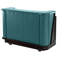 Cambro BAR650421 Granite Green with Black Base Cambar 67 inch Portable Bar with 7-Bottle Speed Rail