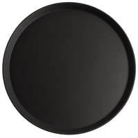 Cambro 1800CT110 Camtread® 18 inch Round Black Non-Skid Serving Tray - 6/Case