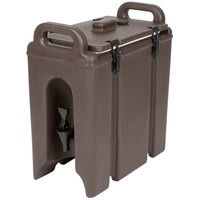 Cambro 250LCD131 Camtainer 2.5 Gallon Dark Brown Insulated Beverage Dispenser