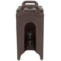 Cambro 250LCD131 Camtainer 2.5 Gallon Dark Brown Insulated Beverage Dispenser