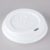 Eco-Products 10, 12, 16, and 20 oz. White Recycled Content Hot Paper Cup Lid   - 100/Pack