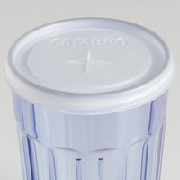 Cambro CLNT8 Disposable Translucent Lid with Straw Slot for  Tumblers - 1000 / Case