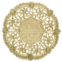4 inch Gold Foil Lace Doily - 1000/Case