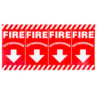 Buckeye Wrap-Around Fire Extinguisher Adhesive Label - Red and White, 24 1/2 inch x 12 inch