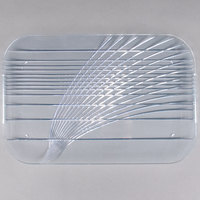 Carlisle 643907 Festival 19 1/2 inch x 13 inch Clear Handled Catering Tray