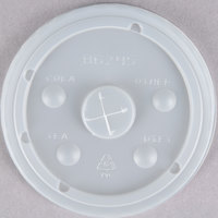 16 oz. Clear Plastic Lid with Straw Slot   - 1000/Case