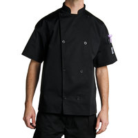 Chef Revival J005BK-XL Knife and Steel Size 48 (XL) Customizable Short Sleeve Chef Jacket
