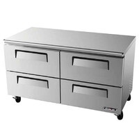 Turbo Air TUR-60SD-D4 60 inch Super Deluxe Four Drawer Undercounter Refrigerator - 16 Cu. Ft.