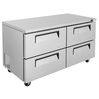 Turbo Air TUR-60SD-D4-N Super Deluxe 60 inch Undercounter Refrigerator with Four Drawers