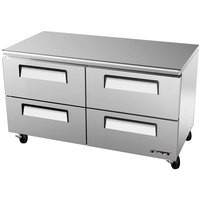 Turbo Air TUR-60SD-D4 Super Deluxe 60 inch Undercounter Refrigerator with 4 Drawers - 16 Cu. Ft.