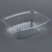 Dart Solo C48DER ClearPac 1.5 Qt. Clear Rectangular Plastic Container - 252 / Case