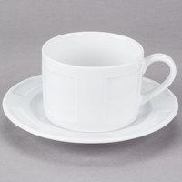 10 Strawberry Street SORR0009 Sorrento 9 oz. White Porcelain Can Cup / Saucer Set - 24/Case
