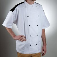 Chef Revival J031-4X Chef-Tex Size 60 (4X) Customizable Poly-Cotton Bermuda Chef Jacket