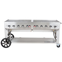 Crown Verity MCB-72 Liquid Propane Portable Outdoor BBQ Grill / Charbroiler