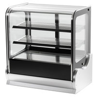 Vollrath 40867 60 inch Cubed Glass Heated Countertop Display Cabinet
