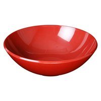 10 3/4 inch Passion Red Round 3 Qt. Melamine Bowl - 4/ Pack