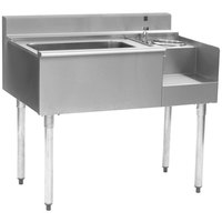 Eagle Group BM62-18R-7 1800 Series 62 inch Underbar Right Blender Module, Center Ice Bin, Left Drainboard, and Cold Plate