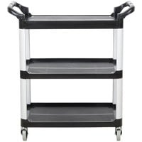 Vollrath 97006 Black Multi-Purpose Utility Cart with Three Shelves