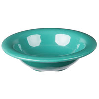 Carlisle 3304209 Sierrus 4.5 oz. 4 3/4 inch Meadow Green Rimmed Melamine Fruit Bowl - 48/Case
