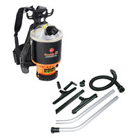 Hoover C2401 6.4 Qt. Commercial Backpack Vacuum Cleaner with 1 1/2 inch Attachments