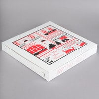 14 inch x 14 inch x 2 inch Clay Coated Pizza Box - 100/Bundle