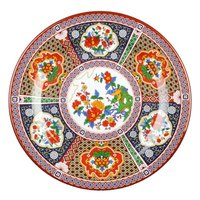 Thunder Group 1016TP Peacock 15 1/2 inch Round Melamine Plate - 12/Pack