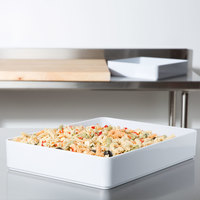 GET ML-86-W 7.6 Qt. Milano White Rectangular Deli Crock - 6/Case