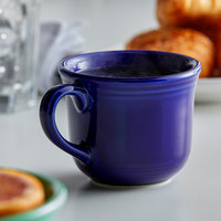 Tuxton CCF-0702 Concentrix 8 oz. Cobalt Round China Cup - 24/Case