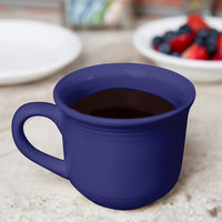 Tuxton CCF-0702 Concentrix 8 oz. Cobalt Round China Mug - 24/Case